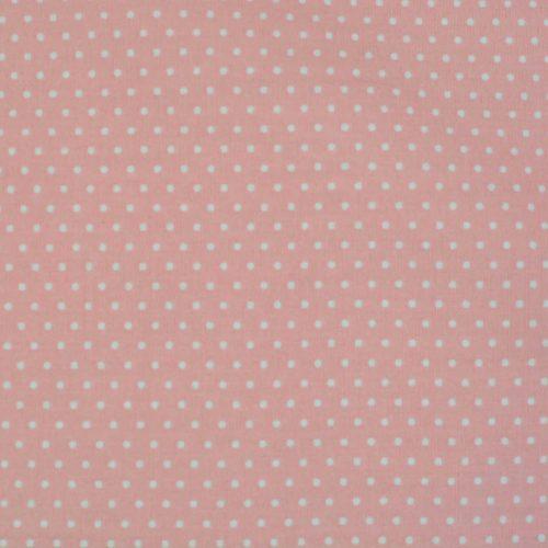 Salmon w/ Small White Dots Fabric-0
