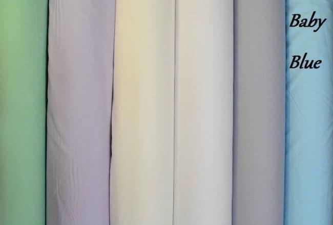 Baby Blue Plain Fabric-0