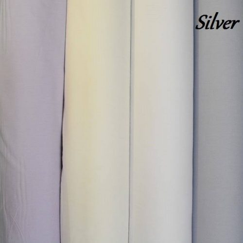 Silver Plain Fabric-0
