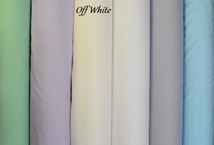 Off White Plain Fabric-0