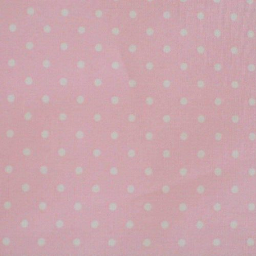 Baby Pink w/ Medium White Dots Fabric-0