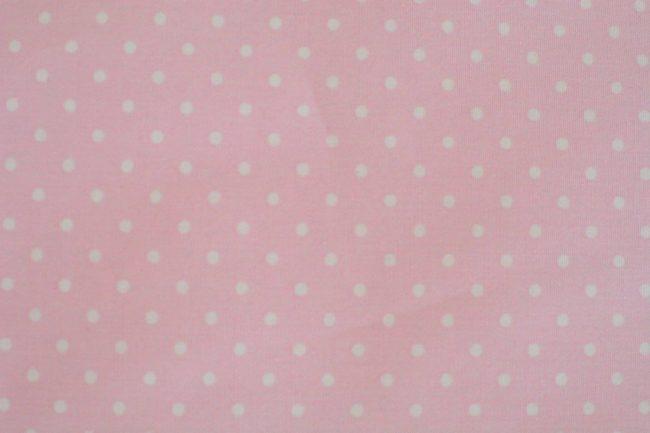 Baby Pink w/ Medium White Dots Fabric-0