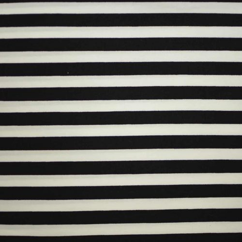 Black and White Stripe Fabric-0