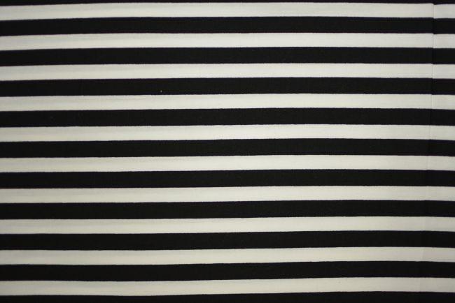 Black and White Stripe Fabric-0