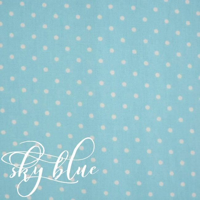 Sky Blue w/ Medium White Dots Fabric-0