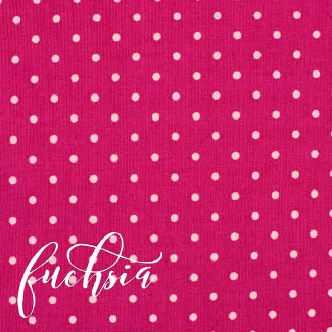 Fuchsia w/ Medium White Dots Fabric-0