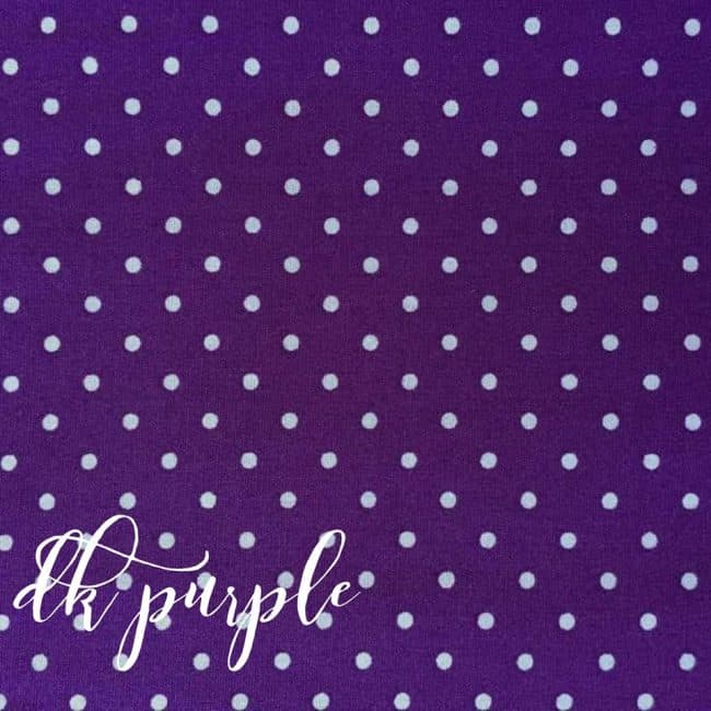 Dark Purple w/ Medium White Dots Fabric-0