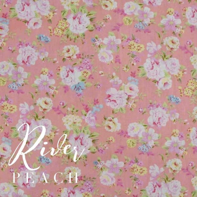 River in Peach Fabric-0