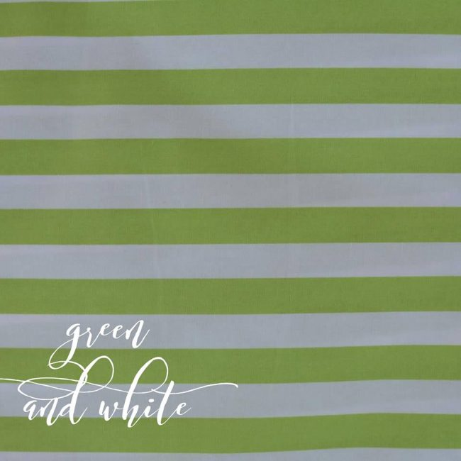 Green & White Stripe Fabric-0