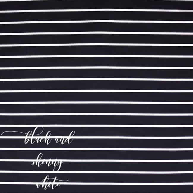 Black and Skinny White Stripe Fabric-0