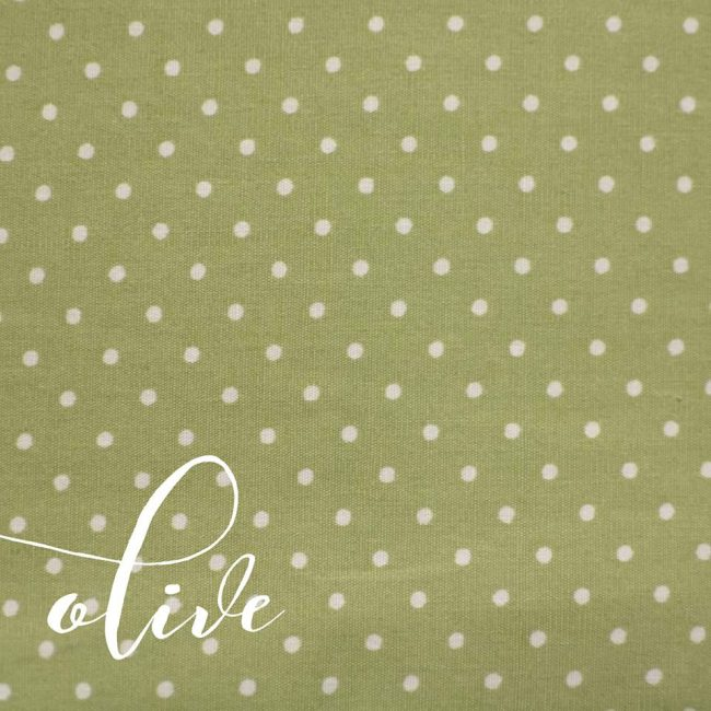 Olive w/ Medium White Dot Fabric-0