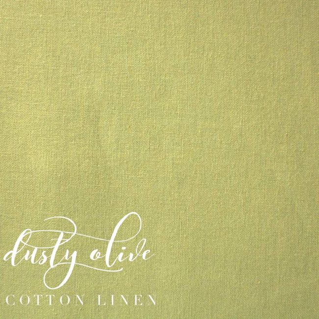 Dusty Olive Cotton Linen -0