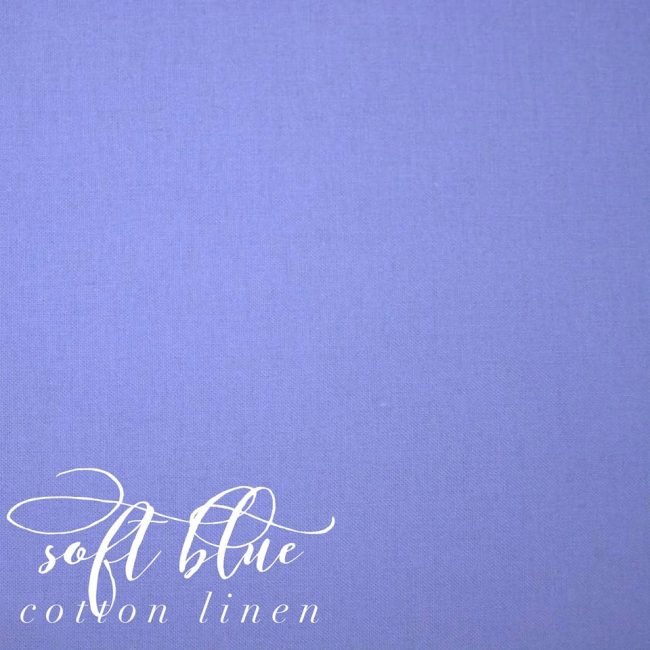 Soft Blue Cotton Linen -0