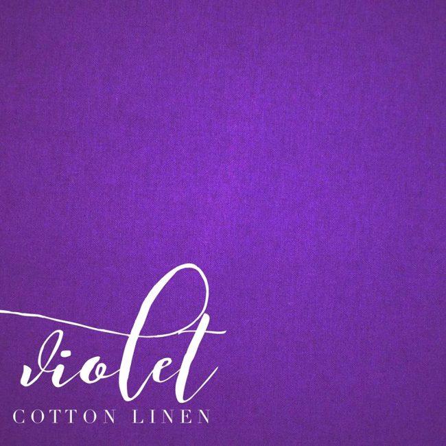 Violet Cotton Linen -0