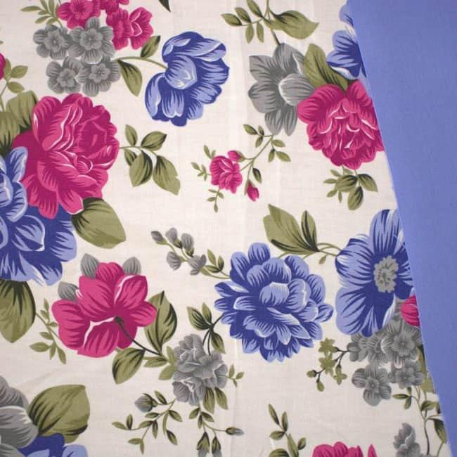 Soft Blue Cotton Linen -2188
