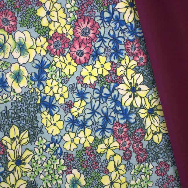 Acadia with Eggplant Plain Fabric
