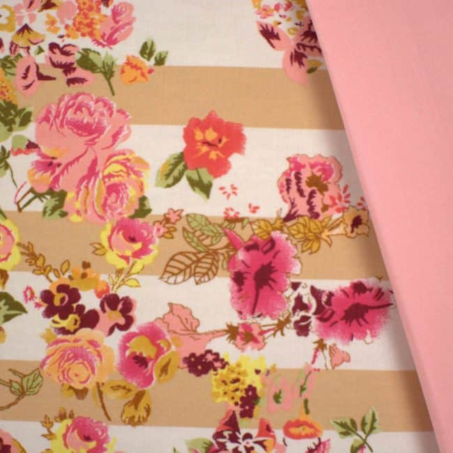 Harlow with Peach Plain Fabric