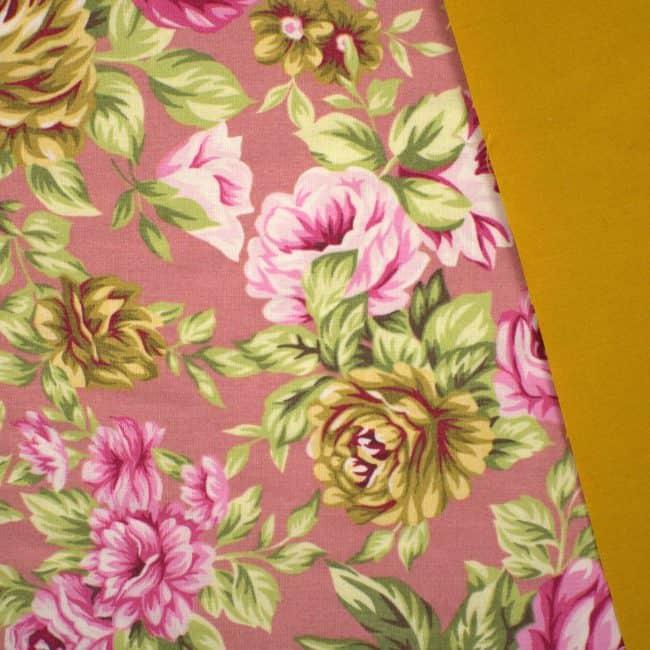 Iliana with Mustard Plain Fabric
