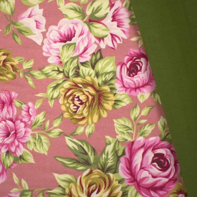 Iliana with Olive Green Plain Fabric