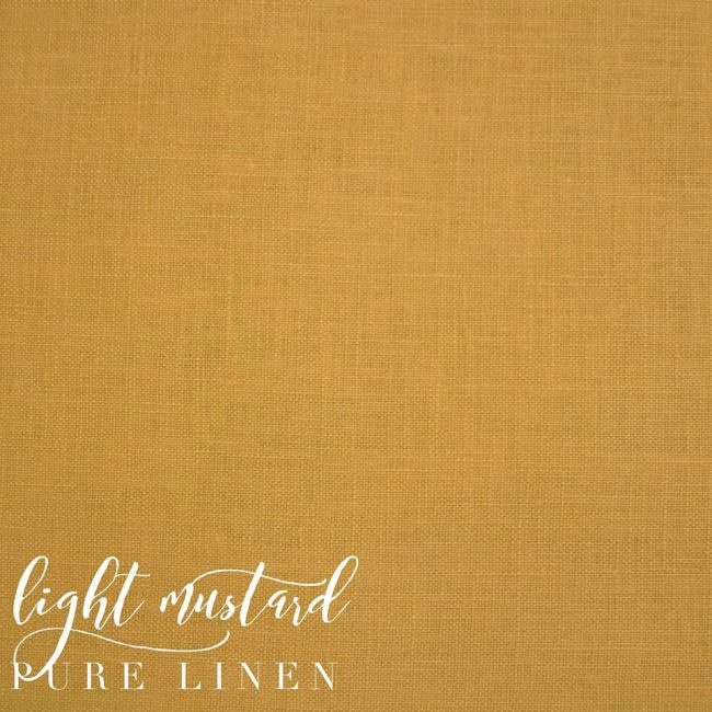 Light Mustard Pure Linen -0