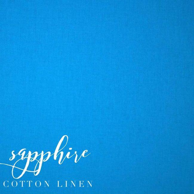 Sapphire Cotton Linen -0