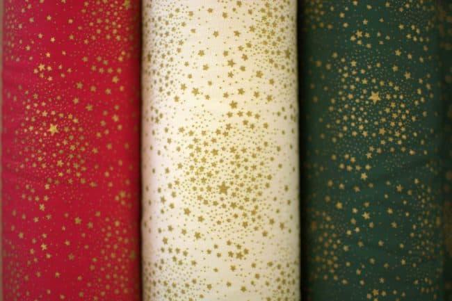 Stars in Green Fabric -2816