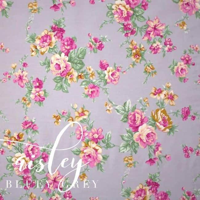 Aisley in Bluey Grey Fabric -0