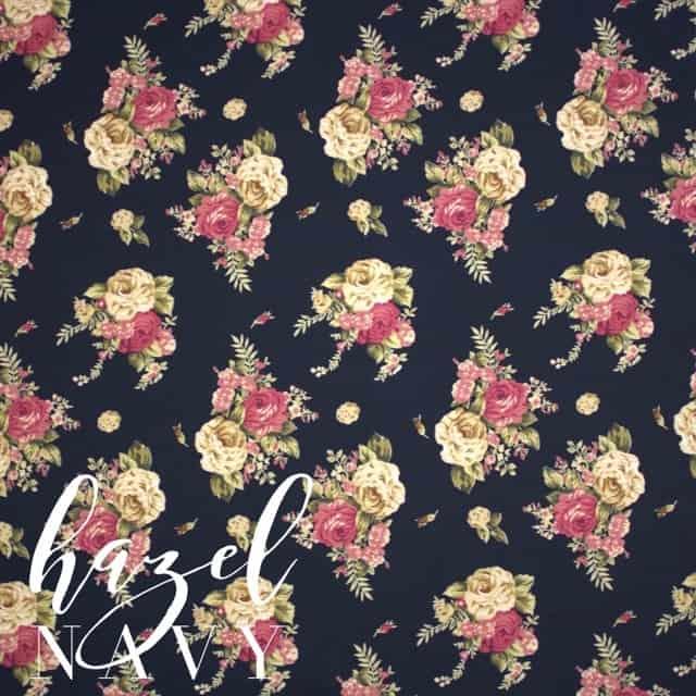 Hazel in Navy Fabric -0