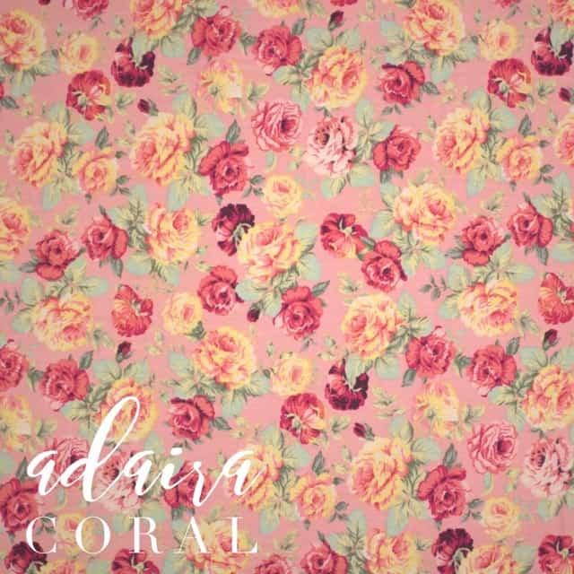 Adaira in Coral Fabric -0