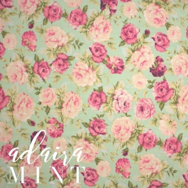 Adaira in Mint Fabric -0