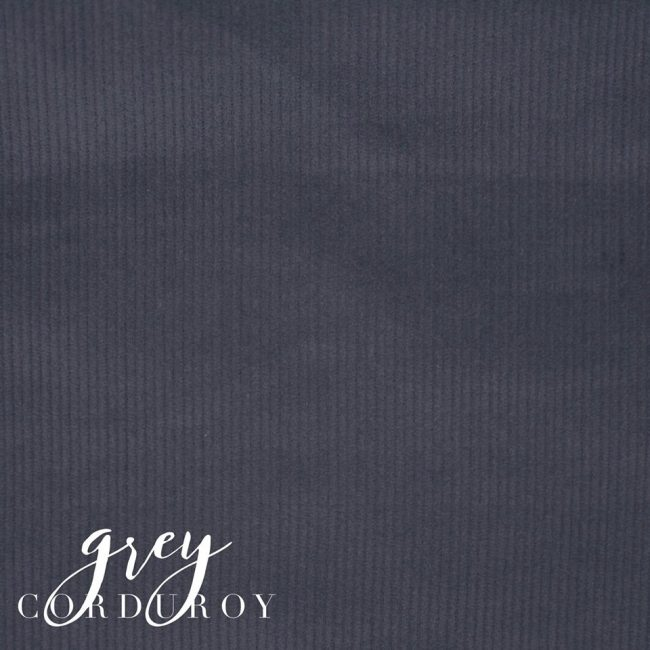 Grey Corduroy Fabric -0