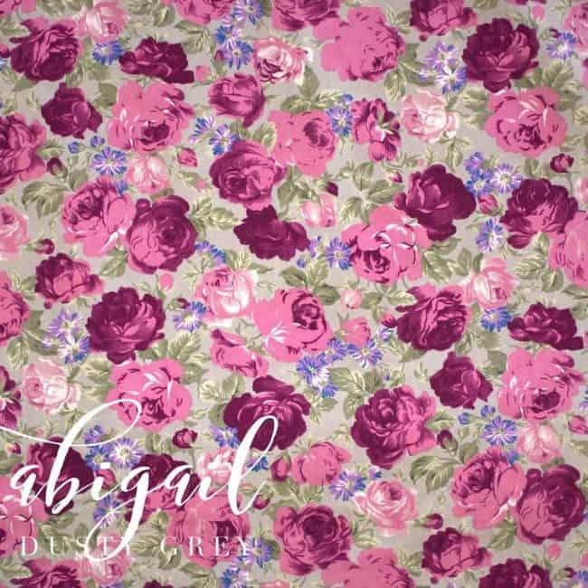 Abigail in Dusty Grey Fabric -0