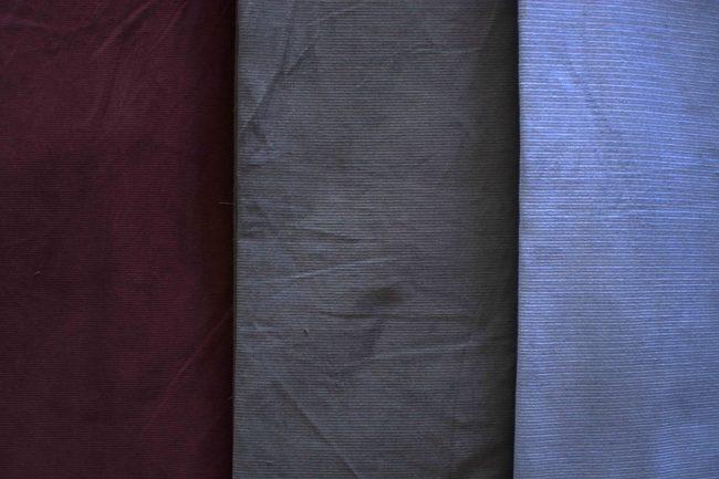 Dusty L. Blue Corduroy Fabric -3444