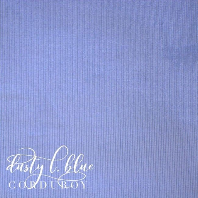Dusty L. Blue Corduroy Fabric -0