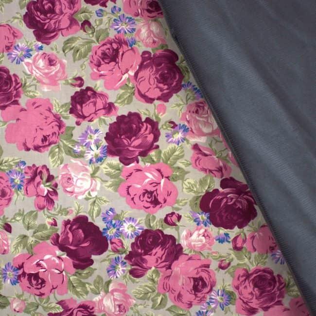 Grey Corduroy Fabric -3435
