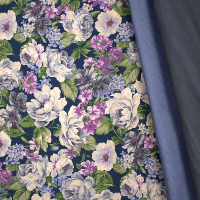 Dusty L. Blue Corduroy Fabric -3442