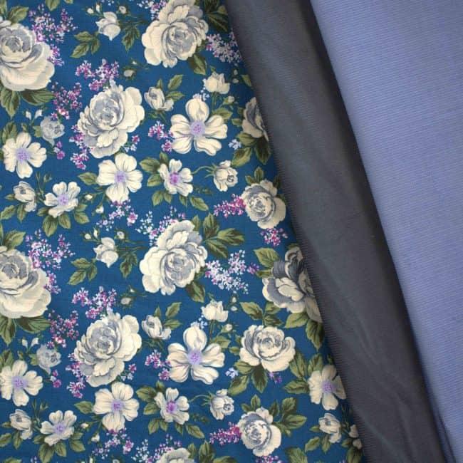Dusty L. Blue Corduroy Fabric -3443