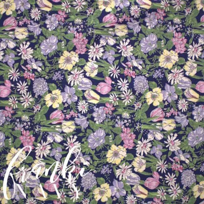 Franki in Navy Fabric -0