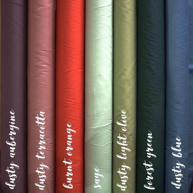 Dusty Light Olive Plain Fabric-0