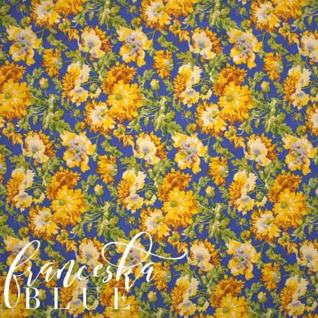 Franceska in Blue Fabric -0