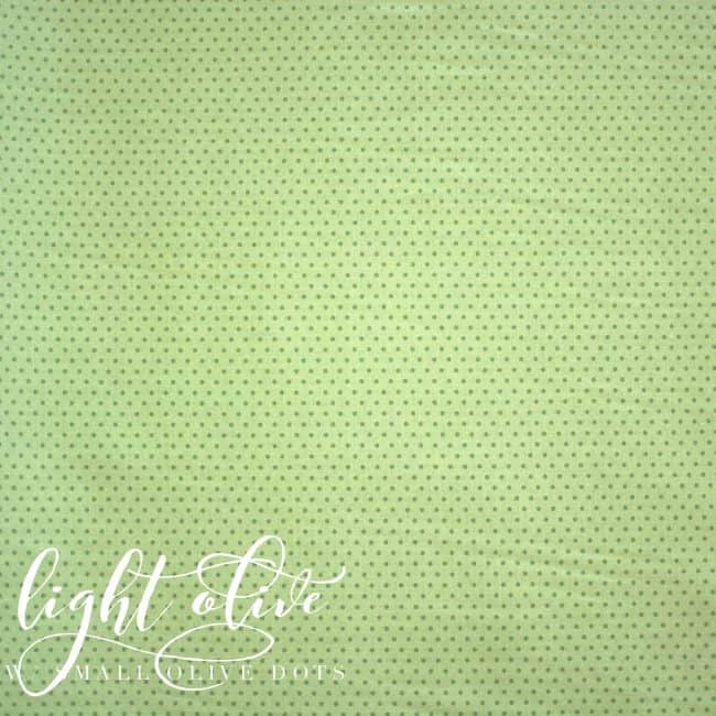 Light Olive w/ Small Olive Dots Fabric-0