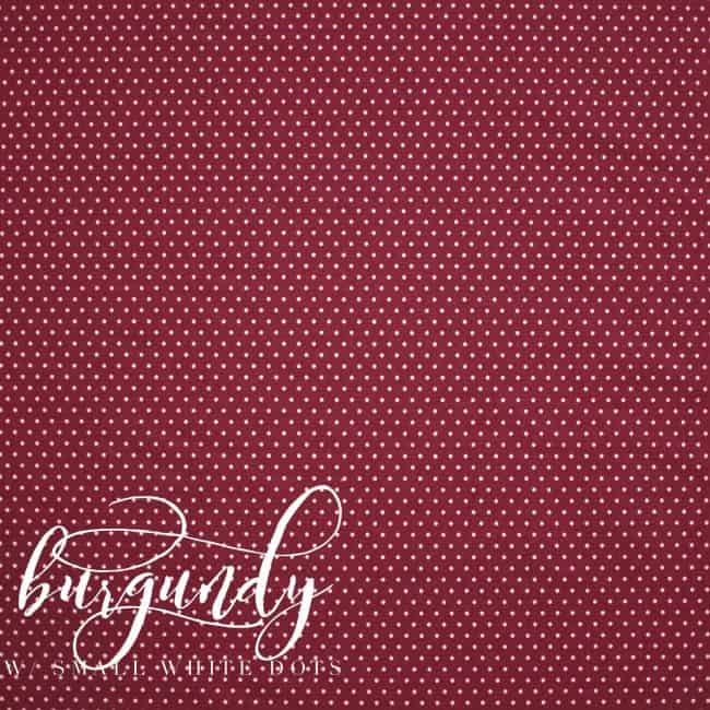 Burgundy w/ Small White Dots Fabric-0