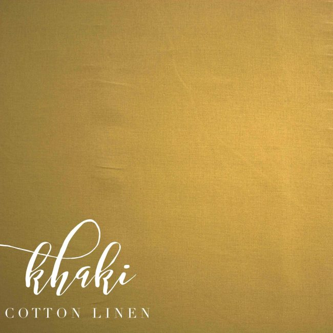 Khaki Cotton Linen -0