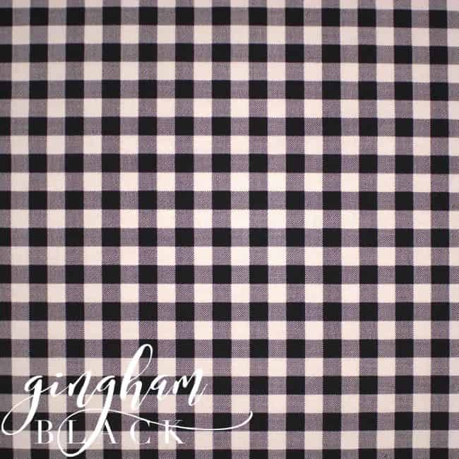 Black and White Gingham Fabric-0