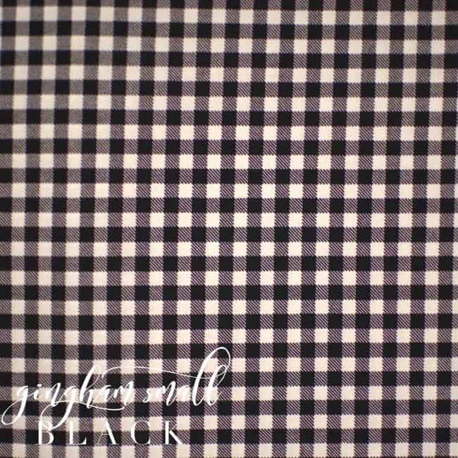 Black and White Small Gingham Fabric-0