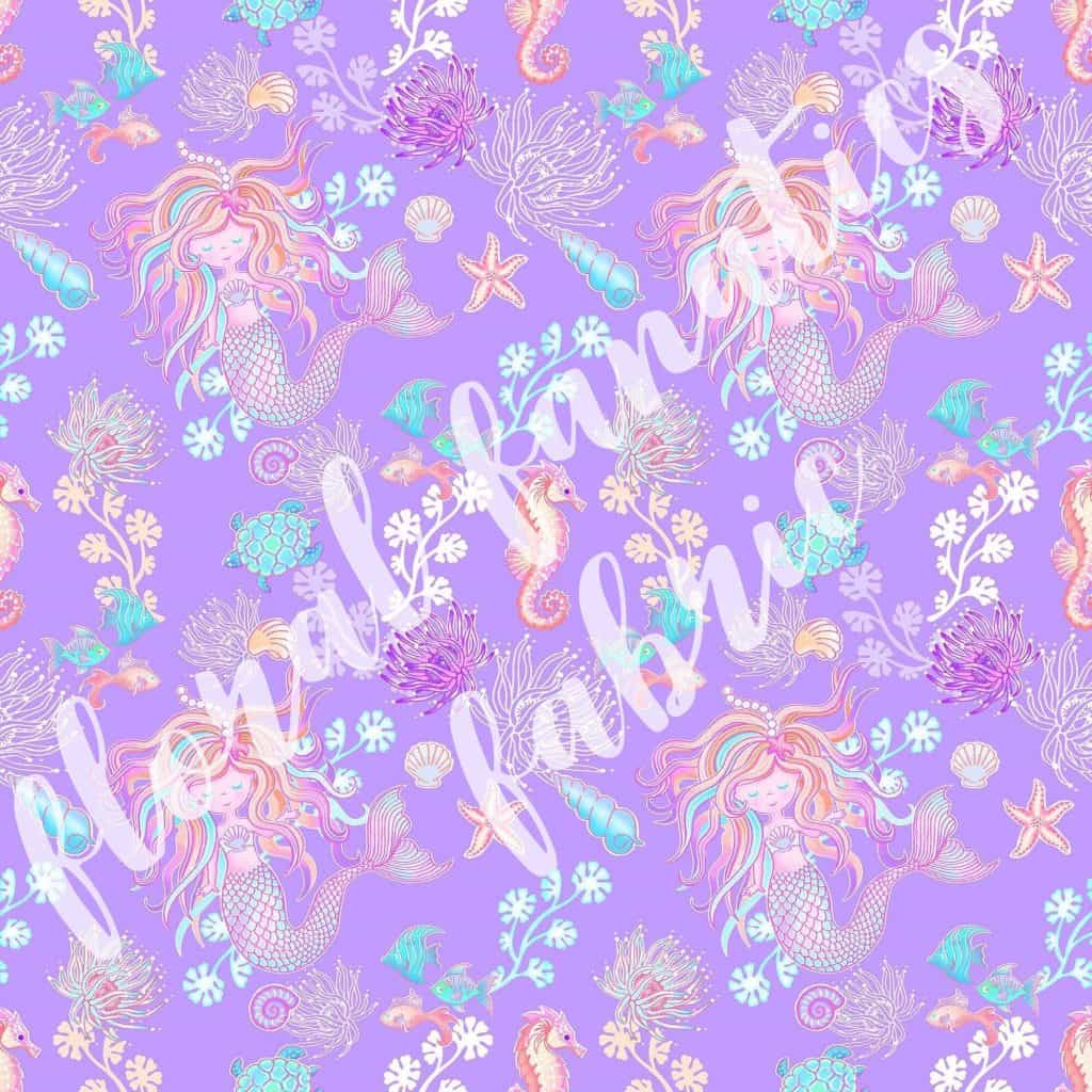 Mermaids in Purple Knit Fabric PRE-ORDER-0
