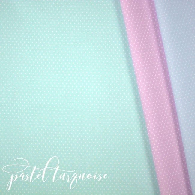 Pastel Turquoise w/ Small White Dots Fabric-0