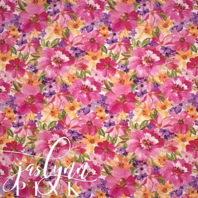 Jaslynn in Pink Linen/Rayon Blend -0