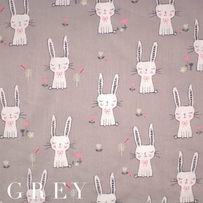 Bunny in Grey Fabric-0
