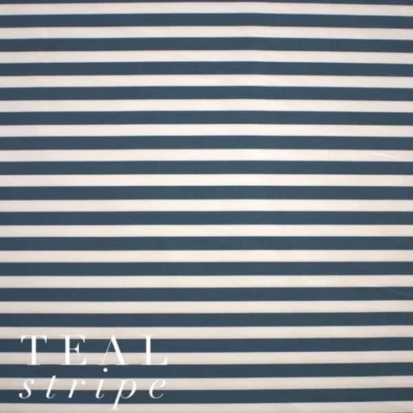 Teal Stripe Fabric-0